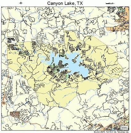 map of canyon lake Amazon Com Large Street Road Map Of Canyon Lake Texas Tx map of canyon lake