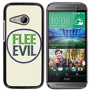 Paccase / SLIM PC / Aliminium Casa Carcasa Funda Case Cover para - BIBLE Flee Evil - HTC ONE MINI 2 / M8 MINI
