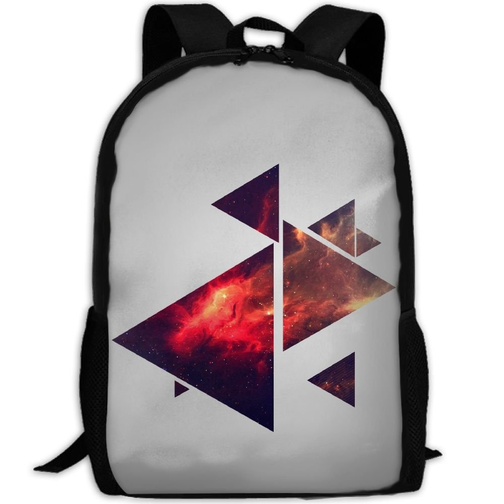 Triangle Geometry Double Shoulder Backpacks For Adults Traveling Bags Full Print Fashion