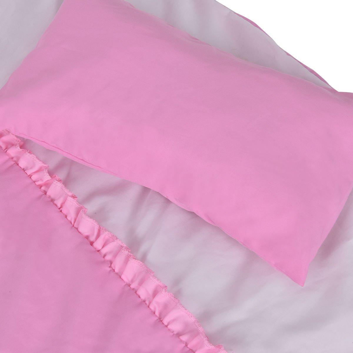 Wood Baby Cradle Rocking Crib Newborn Bassinet Bed Sleeper Portable Nursery Pink by onestops8 (Image #5)
