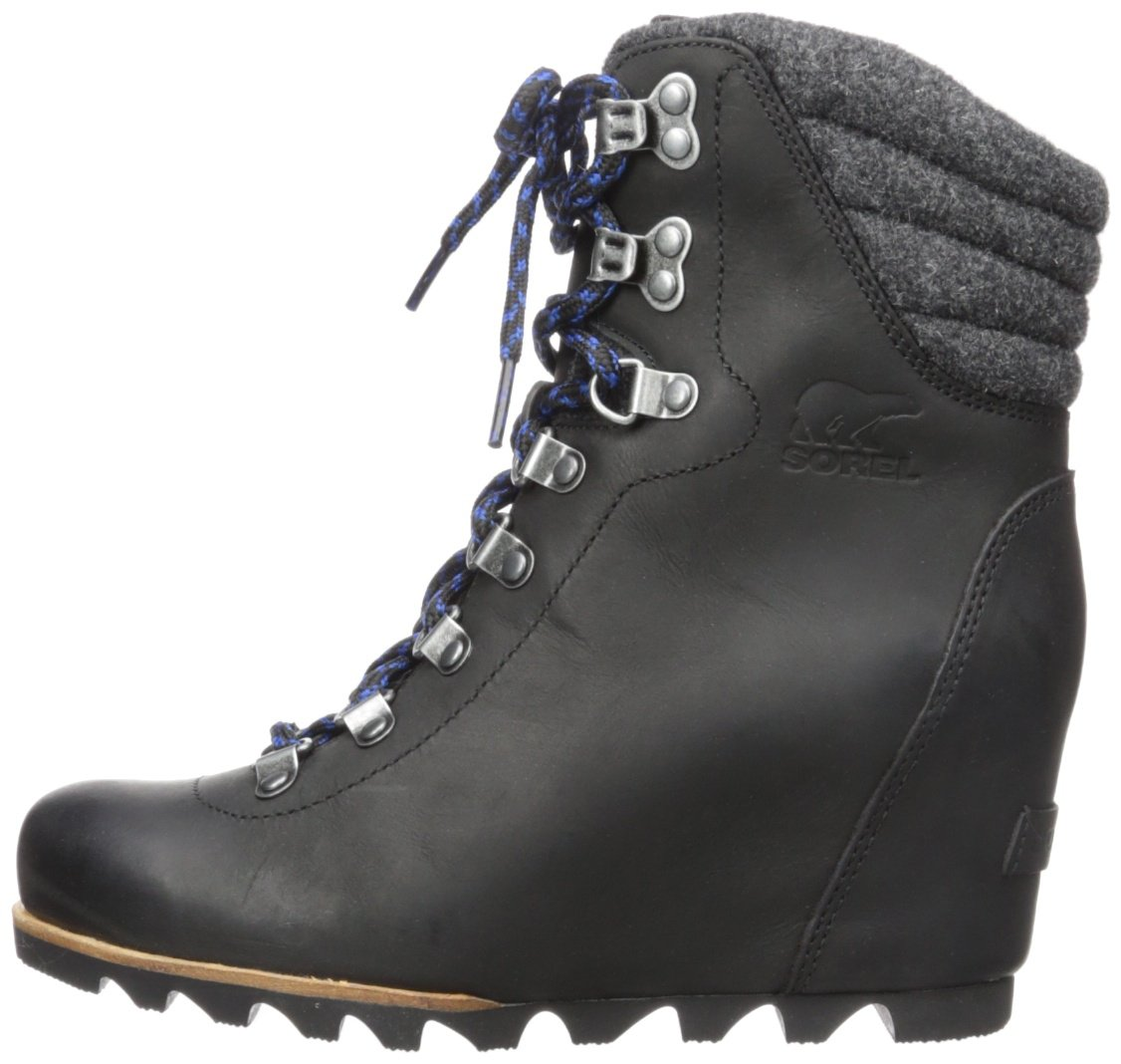 SOREL Women's Conquest Wedge Mid Calf Boot, Black, 11 M US by SOREL (Image #5)