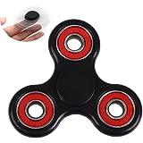 Tri Fidget Hand Spinner, Fidget Mano Dito Spinner Focus Giocattolo - Antistress Alta Velocità Cuscinetto Fidget Toy - Rotazione da 2-3 Minuto per ADD, ADHD, Ansia, El'autismo per Adulti Bambini