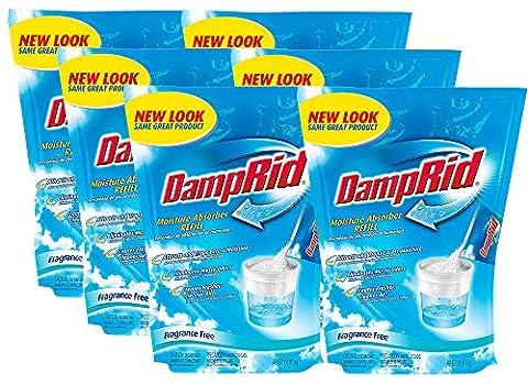 DampRid FG30K Refill Bag Fragrance Free, 6-Pack, 6 Piece (Dehumidifier Moisture Elimination)