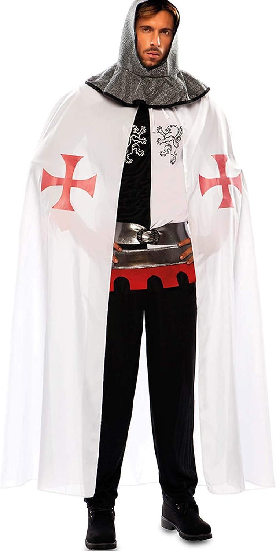 EUROCARNAVALES Capa de Templario Medieval Blanca para Hombre ...