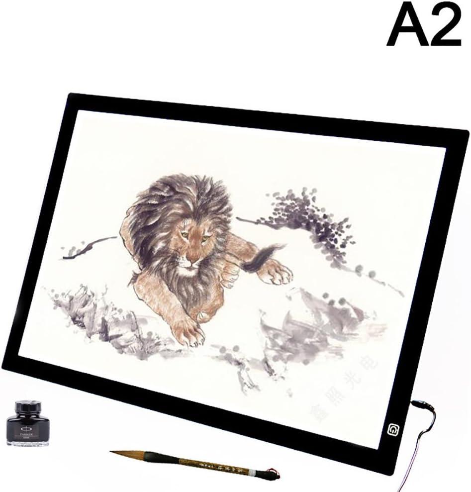 Qiulv A2 Led Light Box Tracer Atenuar El Brillo Caja De Luz Del Cojín Prevenir La Fatiga Ocular Control Con Adaptador Para Artistas, Dibujo, Esbozo, Animación, (27.5X19.6 Pulgadas): Amazon.es: Deportes y aire