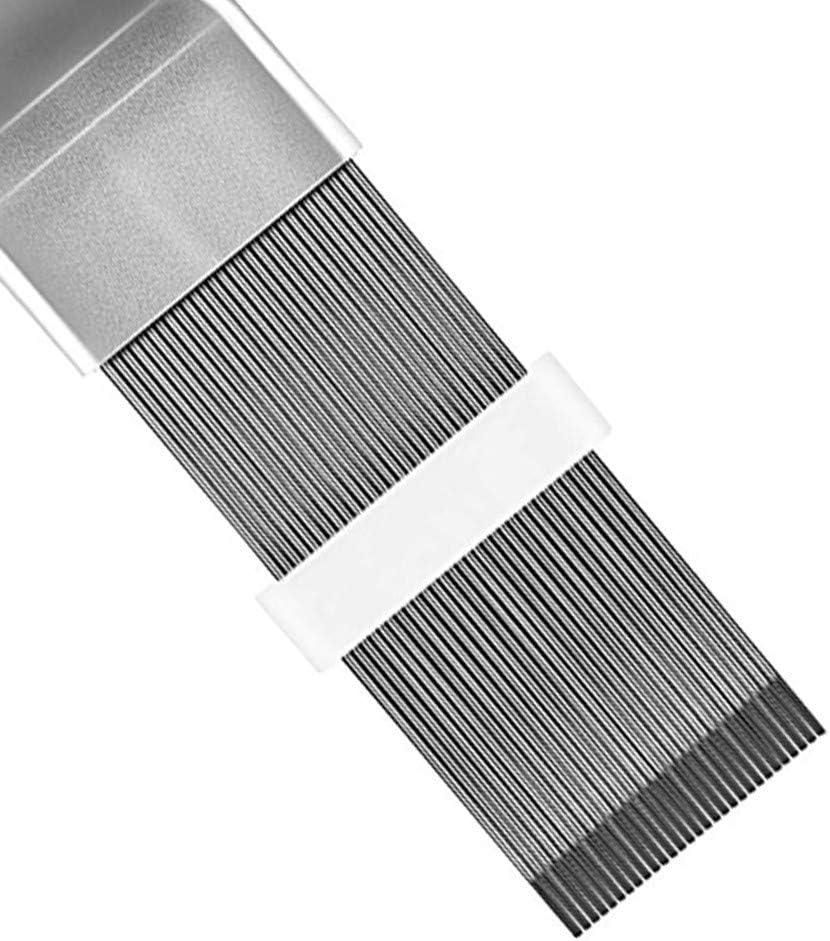 Stainless Steel Air Conditioner Fin Repair Tool Coil Comb A//C HVAC Condenser Radiator Universal Aluminum Alloy