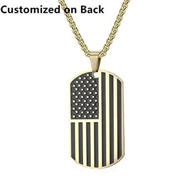 Lf mens boys personalized name date custom stainless steel usa lf mens boys personalized name date custom stainless steel usa american flag necklace patriot pendant jewelry independence day accessories for husband aloadofball Images