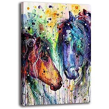 amazon com ale art gentle horse with purple flowers canvas rh amazon com