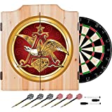 Officially Licensed Anheuser Busch Eagle Design Deluxe Solid Wood Cabinet Complete Dart Set