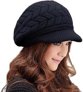 39556e4976d00d ... hindawi womens winter hat s warm outdoor wool knit crochet snow cap ...