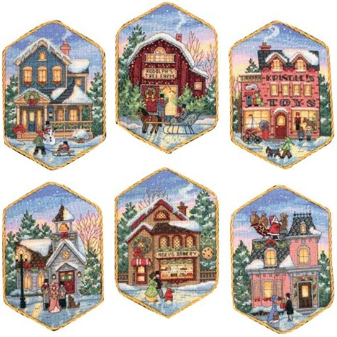 Christmas Village Ornaments Dimensions Needlecrafts Counted Cross Stitch