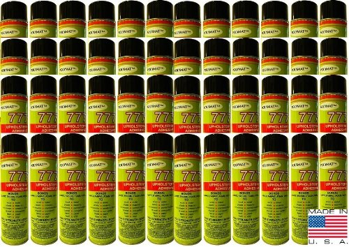 48 Cans of Polymat 777 Foam Speaker Box Carpet Car Auto Liner and Fabric Spray Glue Adhesive