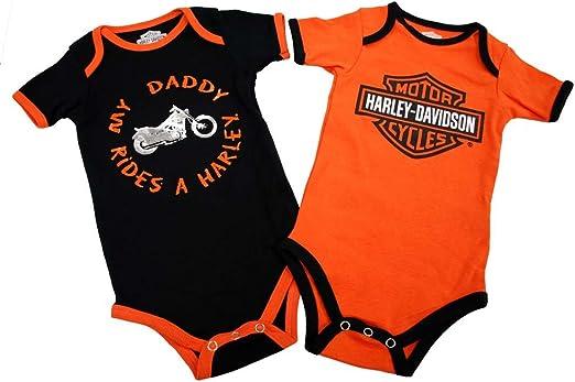 HARLEY-DAVIDSON Baby Boys Grandpa Rides A Harley Creeper 2-Pack 1153044