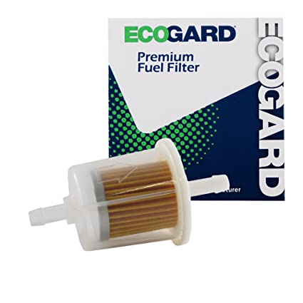 """amazon com: ecogard xf20011b small engine fuel filter – 1/4"""" or 5/16"""" line  - fits lawn mowers 