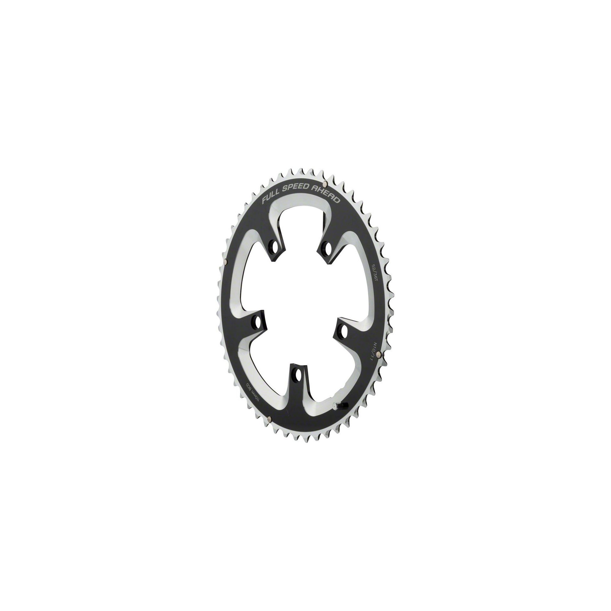 FSA Super Road Chainring Black, 110x52t by FSA