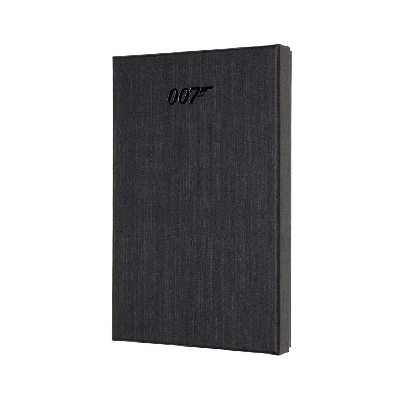 Moleskine Limited Edition James Bond Notebook, Hard Cover, Large (5'' x 8.25'') Ruled/Lined, Black