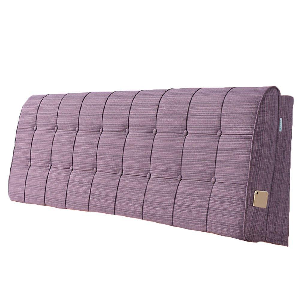 LIANGLIANG クッションベッドの背もたれ ダブルサイズの人は余分な通気性と汗を吸収する綿、5サイズ13色 (色 : Pale Pink, サイズ さいず : 120x60x10cm) B07FRG3H1C 120x60x10cm|Pale Pink Pale Pink 120x60x10cm