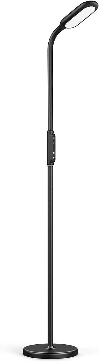 TaoTronics Dimmable LED Floor Lamp 5 Brightness Levels & 3 Colors, 1800 Lumens, Flexible Gooseneck Reading Floor Lamp for Living Room Bedroom, Touch Control, 12W (AU Plug, 240V)