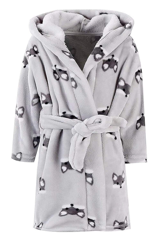 Boys Girls Toddler Baby Flannel Soft Bathrobes Women XL 18 Months Betusline Kids /& Adults Robe