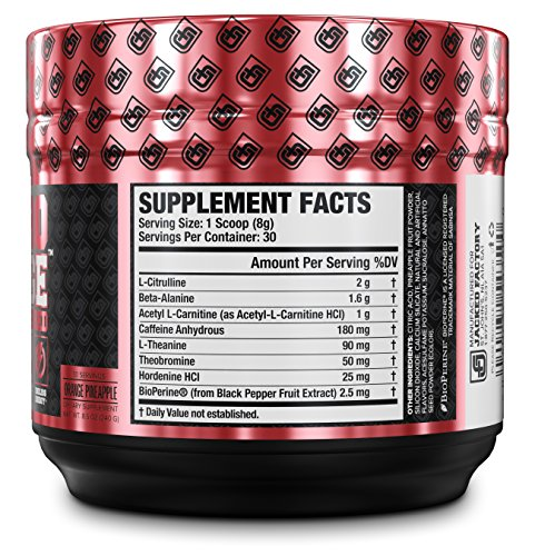 NITROSURGE-SHRED-Pre-Workout-Fat-Burner-Supplement-30-Servings-Orange-Pineapple-Flavor-85-oz