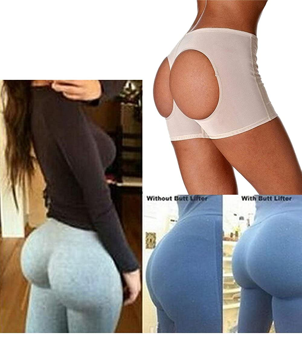 af7c404c1ca FLORATA Women Body Shaper Briefs Butt Lifter Panty Booty Enhancer Hip Push  Up Booster at Amazon Women s Clothing store