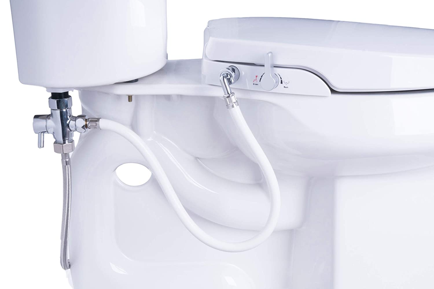 Excellent Geniebidet Round Seat Self Cleaning Dual Nozzles Rear Feminine Cleaning No Wiring Required Simple 20 45 Minute Installation Or Less Hybrid T Pdpeps Interior Chair Design Pdpepsorg