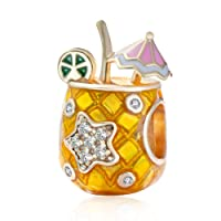 Hot Summer Beach Drink Sexy Yellow Charms fit Pandora Bracelets Necklaces and European...