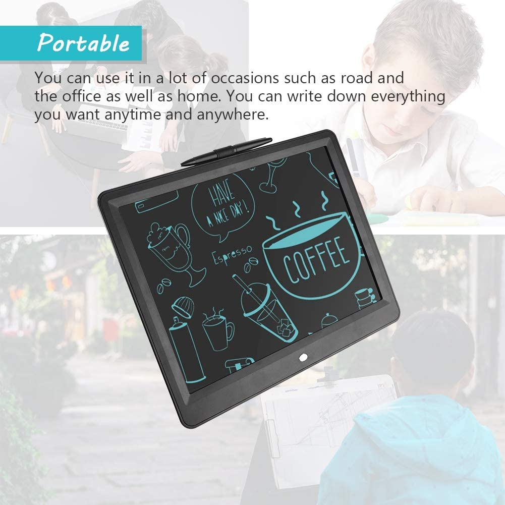 15 in Ultra Handwriting /& Drawing Board Doodle LCD Board for Kids and Office Writing Handwriting Pads Mugast Portable Eye-Friendly Writing Tablet