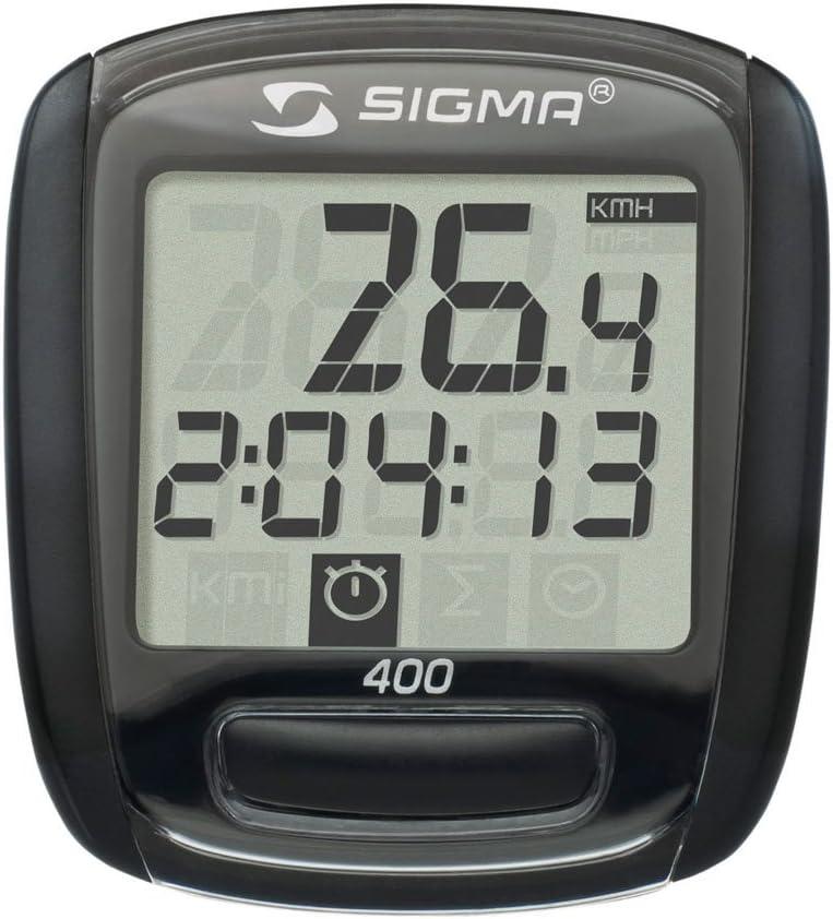 Sigma Base 400-09 Ciclocomputador, Unisex, Negro: Amazon.es ...