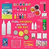 NEW: Ultimate Slime Kit Supplies Stuff – for Girls and Boys Making Slime! [EVERYTHING IN ONE BOX] Kids can Make Unicorn, Glitter, Cloud, Rainbow Slimes and More! Includes Glue and Full instructions!