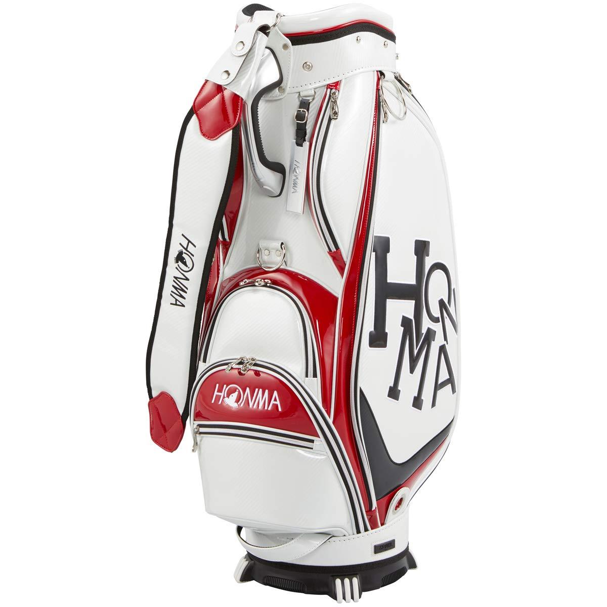 本間ゴルフ キャディーバッグ HONMA CB1908 メンズ ホワイト 9 B07MWDN67J