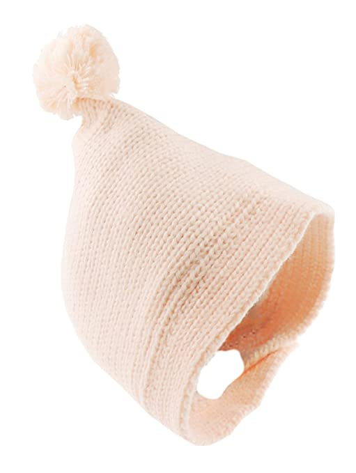 Gorro de bebé con forro polar y pompón supersuave para niños y niñas rosa  rosa Talla 283e34b2e1a