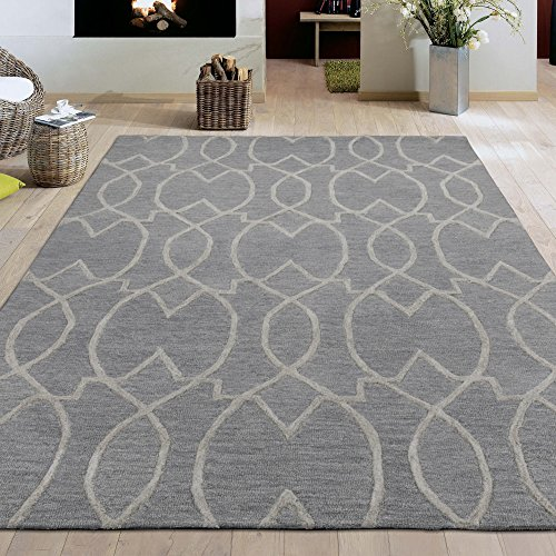 Ottomanson Hand-Tufted Hampton Collection Wool Rug, 5