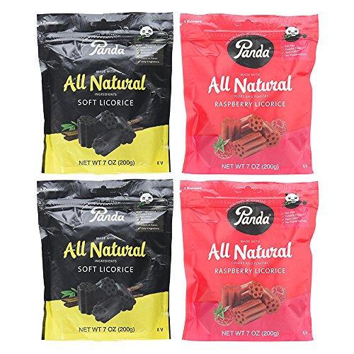 Panda Licorice Chews, Non-GMO, Vegan, Kosher and All Natural, 4 Pack Assortment ()
