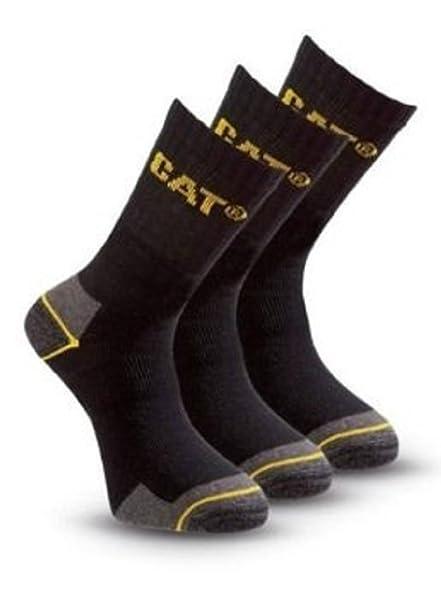 (6 pares) 2 x 3 unidades Caterpillar - Calcetines de trabajo algodón para hombre en color negro Negro negro: Amazon.es: Ropa y accesorios