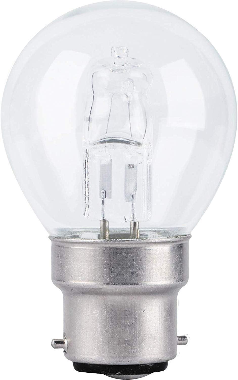 10 X 100 WATT LIGHT BULB ECO HALOGEN BAYONET CAP DIMMABLE LIGHTS BC LONG LIFE