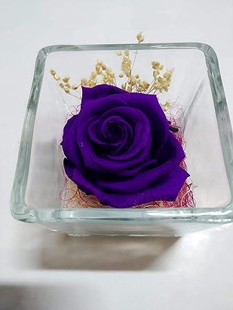 Seidenblumen Neu 6 x Edelrose flieder  Kunstblumen  Rosen