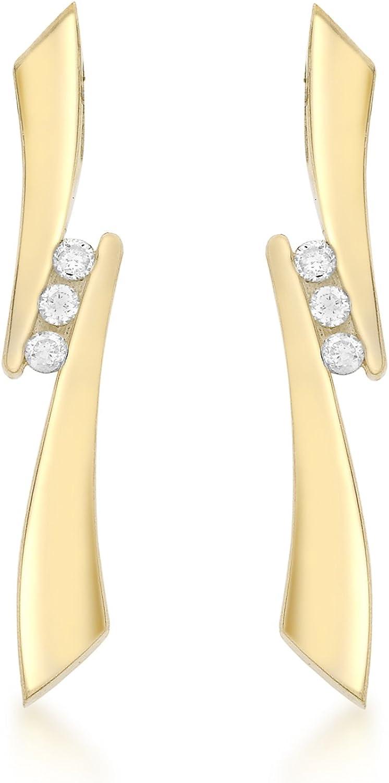 Carissima Gold Pendientes de mujer con oro de 9 K (375/1000), diamante
