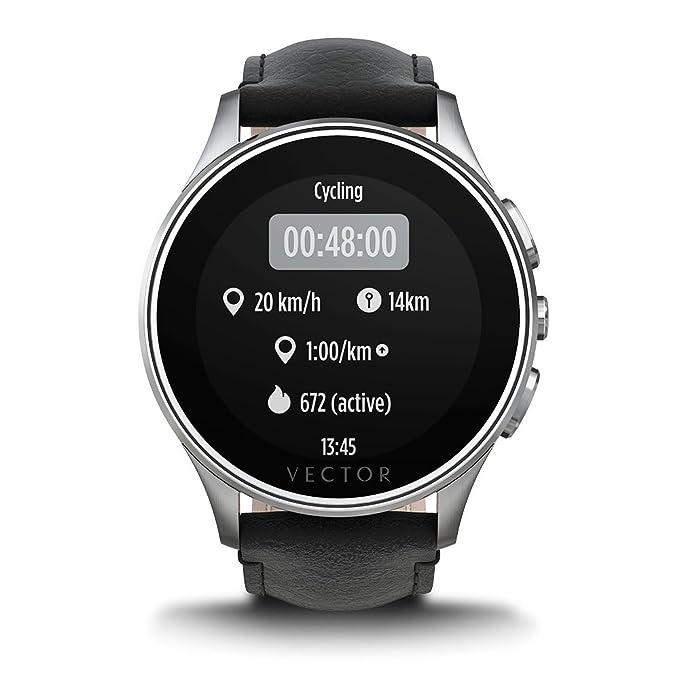 Vector L1-10-016 Luna - Smartwatch de acero inoxidable, 46 ...
