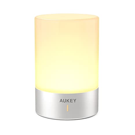 AUKEY Rechargeable Table Lamp With Dimmable Warm White Light U0026 Color  Changing RGB, Touch Lamp