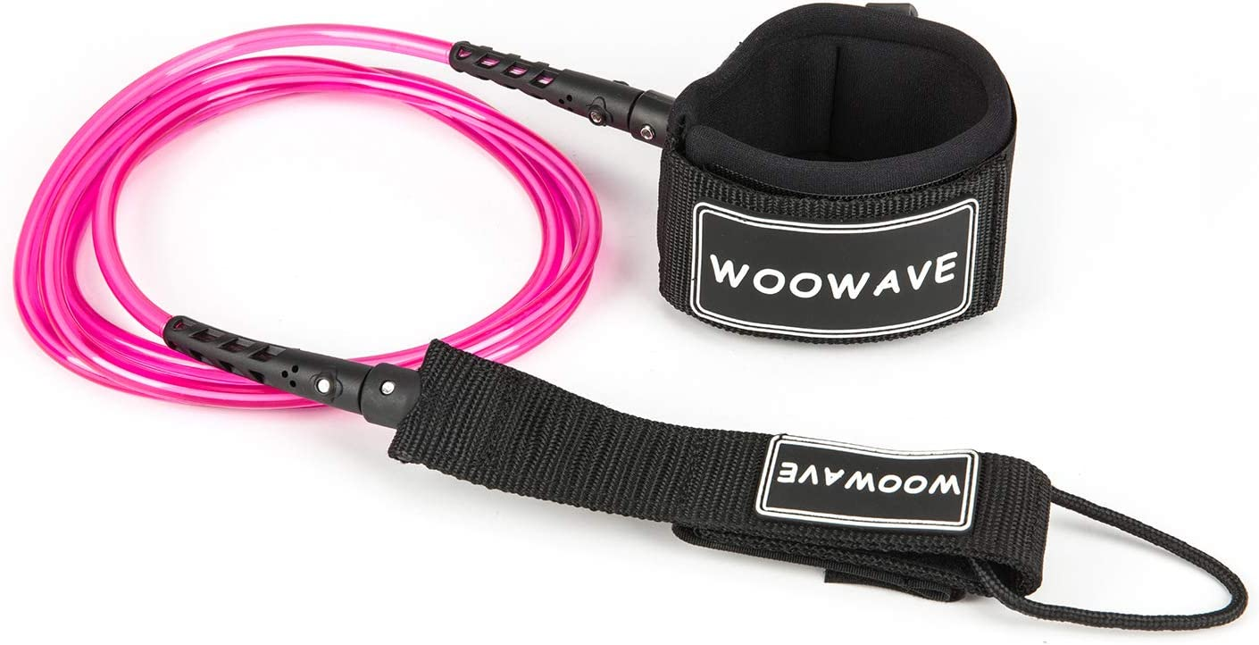 WOOWAVE Surfboard Leash Premium Surf Leash SUP Leg Rope Straight 6//7//8//9 feet for All Types of Surfboards