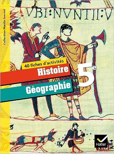 Livre gratuits Histoire-Géographie 5ème éd. 2010 - Fiches d'activités epub pdf
