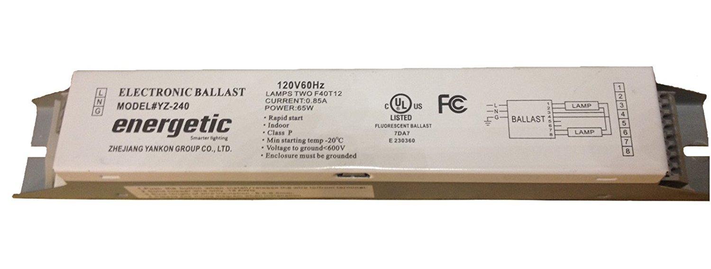 Energetic YZ-240 Electronic rapid start ballast for 2 F40T12 bulbs:  Amazon.com: Industrial & ScientificAmazon.com