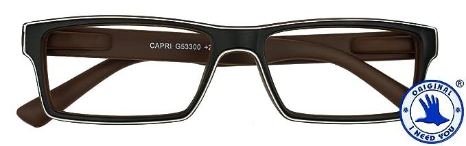 Amazon.com: I NEED YOU Reading Glasses Brown Capri Square Frames ...