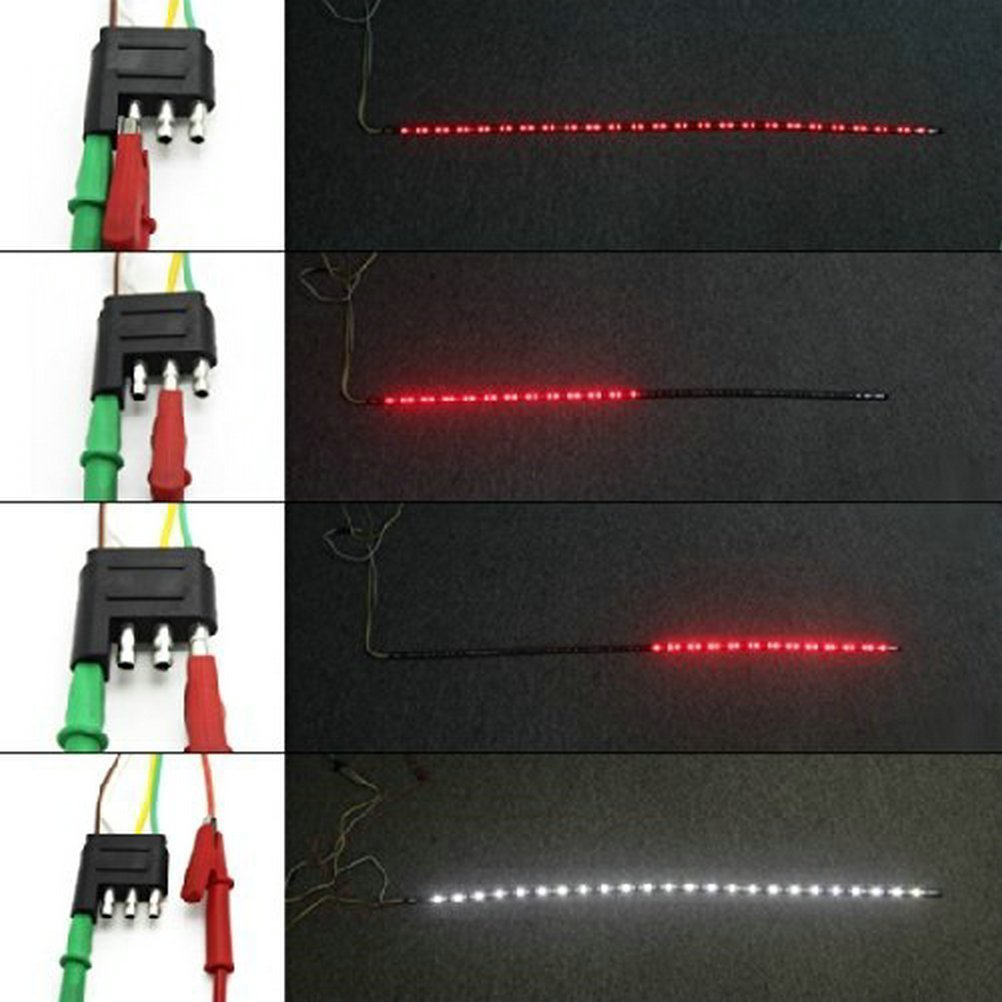 Opall 60 Inch Tailgate LED Signal Lights Red//White Universal for Dodge Ram Chevy and more