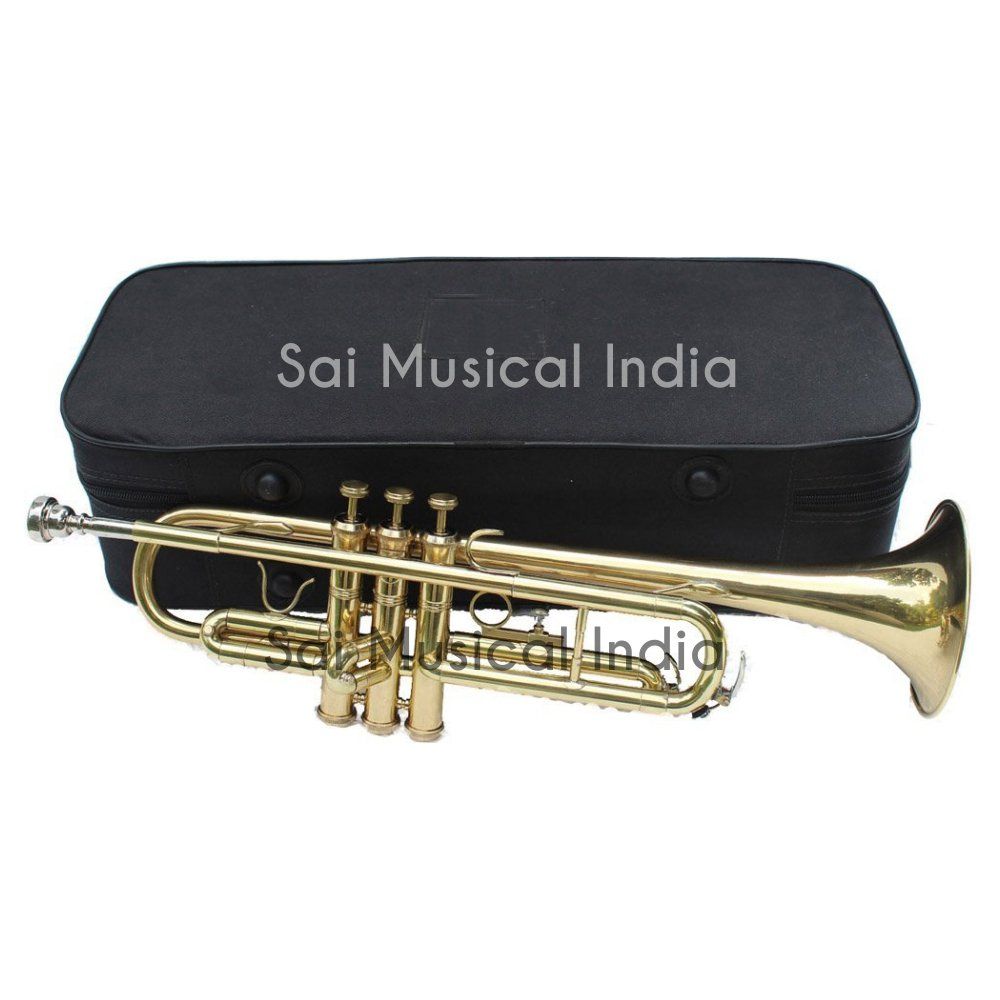 Queen Brass Top Grade Quality Bb Pitch Flat Brass Finishing Trumpet Along With A Mouthpiece MI 065