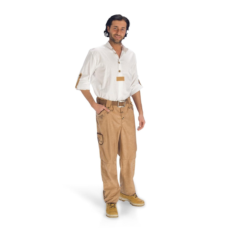 Trachtenhose mit Stickerei für Herren bayrische Kostüm Hose hellbraun