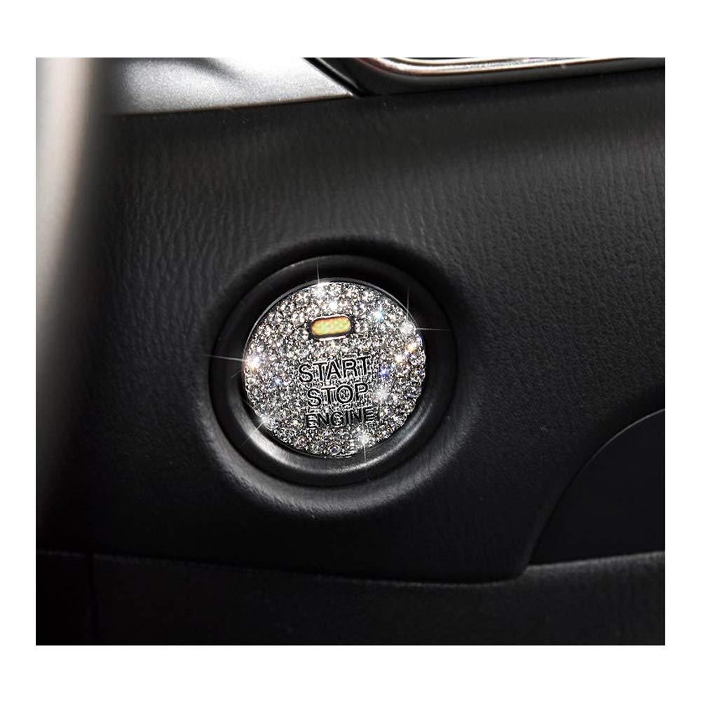 Senauto Bling Engine/Ignition Push Start Stop Button Cover Trim Sticker for Mazda 2 3 6 CX-3 CX-4 CX-5 CX-9 MX-5