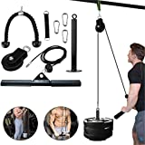 Fitness LAT and Lift Pulley System, KEERADS Pulley Cable Machine with Upgraded Loading Pin for Fitness,Training,Physical…