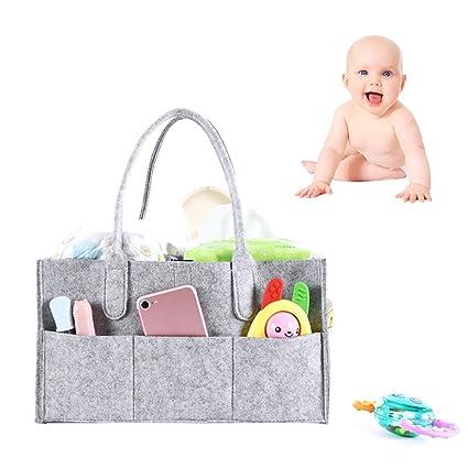 Organizador de pañales para bebé, cesta de almacenamiento para guardería, bolsa de toallitas,